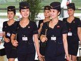 朝鲜空姐登杂志封面 个个青春靓丽