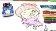 变形警车珀利画猪猪侠菲菲涂色画 20