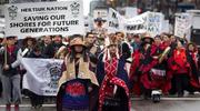 美原住民反输油管项目示威升级 警方逮捕141人