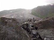 四川山体垮塌地救援村民:整个村庄只看得到1栋房子 还只有房顶