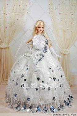 芭比娃娃婚纱礼服