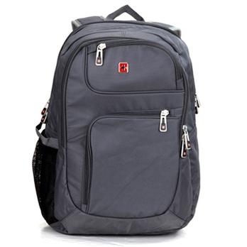 瑞士十字涤纶时尚双肩背包sw8301灰色