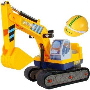 可坐可骑 挖土机玩具儿童挖挖机玩具车可坐工程车