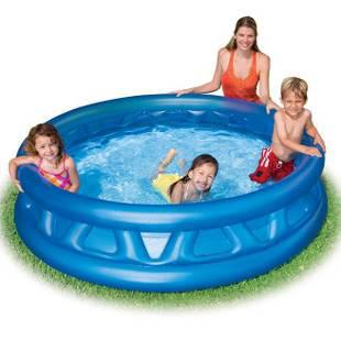 intex软壁儿童充气游泳池/充气水池/充气浴缸