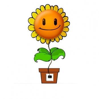 可爱微笑向日葵墙纸壁灯 黄色; 微笑向日葵_向日葵微笑图片,卡通微笑