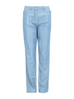 MAX&CO.蓝色纯棉材质纯色宽松版女士牛仔裤