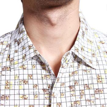 夏装商务休闲男士花式短袖衬衫