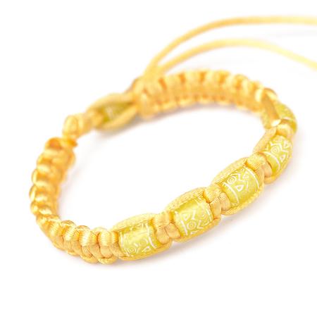 转运珠手链编法转运珠手绳转运珠石榴石黄绳编黄金