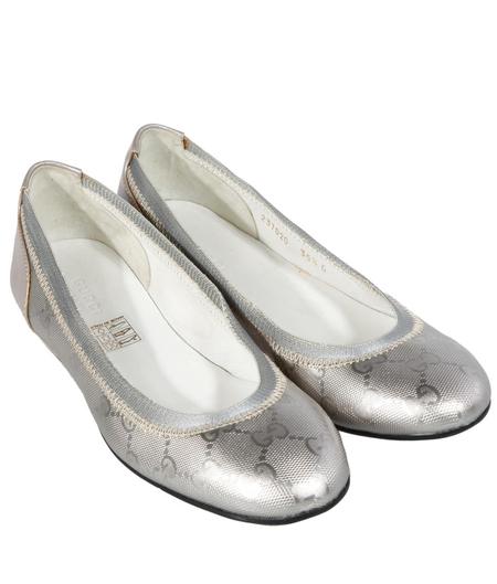 gucci古驰银白色牛皮女士单鞋