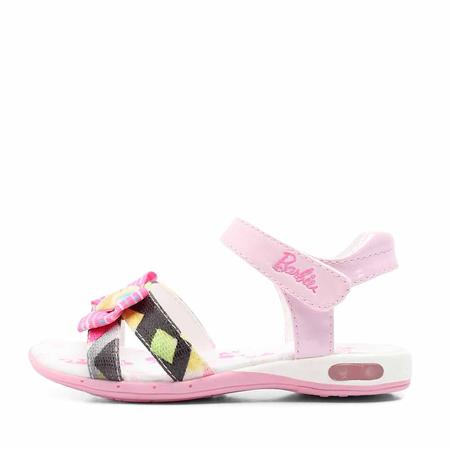 barbie/芭比2012年夏季粉色pu女小童凉鞋