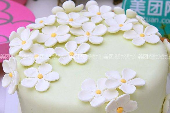 小清新花卉翻糖蛋糕1个