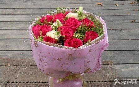 非常鲜花11支彩色玫瑰花束(欧式包装)