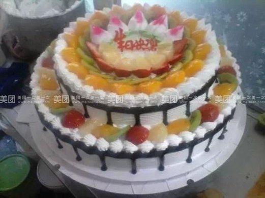 欧式双层蛋糕1个,约16英寸