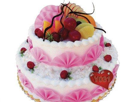 欧式水果双层蛋糕1个,节假日通用