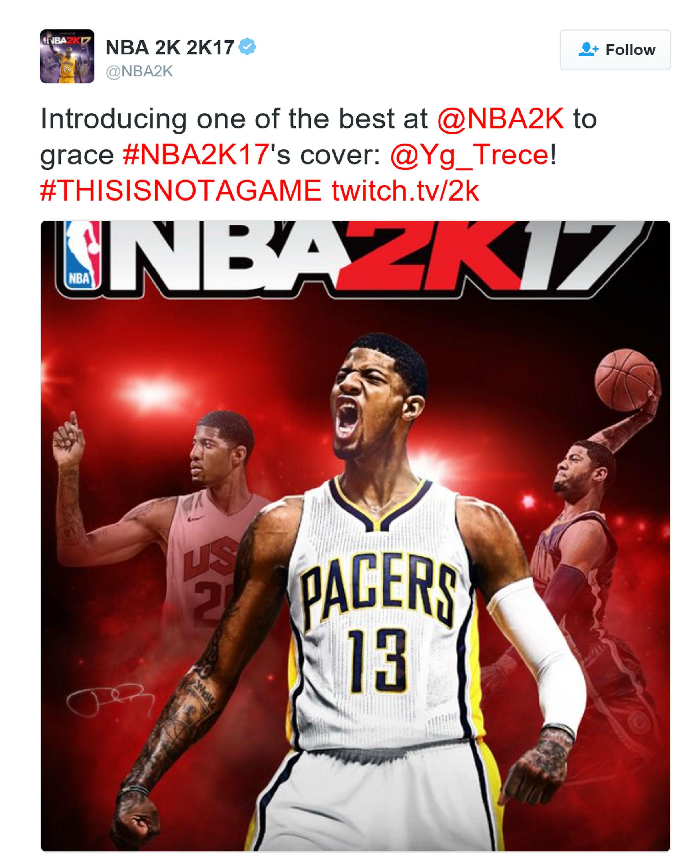 《NBA 2K17》封面人物