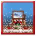 重力感应透明的雪花圣诞