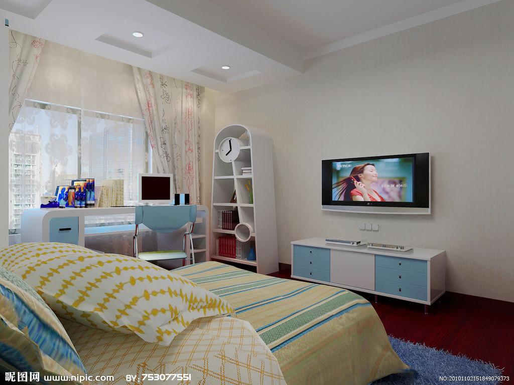 小孩卧室设计图_卧室效果图