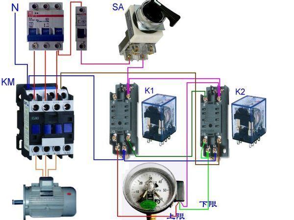 求助一个时间继电器一个浮球阀一个接触器怎么控制图片