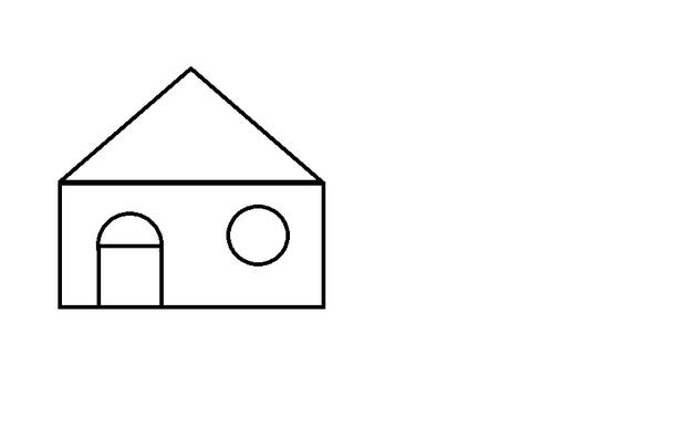 正方形圆形三角形图案