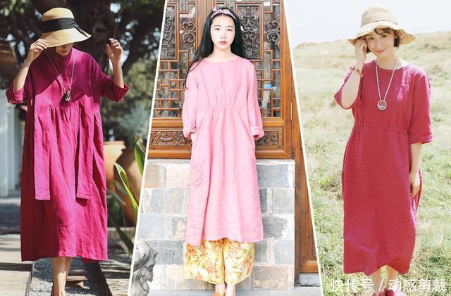 拒绝秋老虎,苎麻连衣裙,演绎轻盈凉爽的文艺风