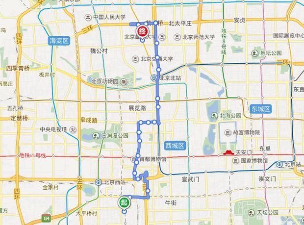 北京地铁怎么倒80路公交车路线