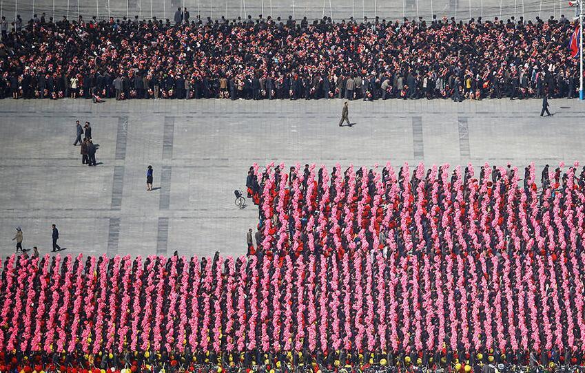 金日成诞辰105周年纪念彩排现场 - 天地人 - 天地人和