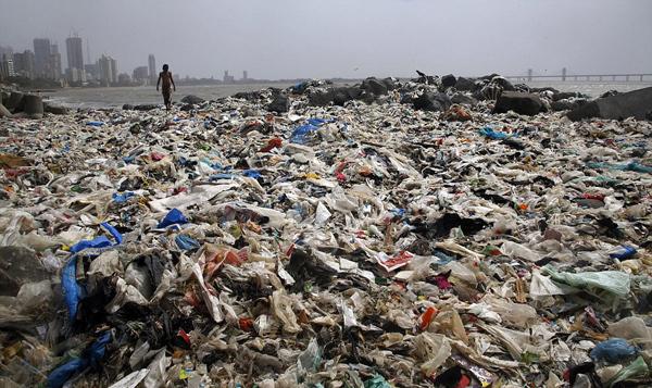 孟买海滩5000吨垃圾被清理 金色沙滩重见天日 -  - 真光 的博客
