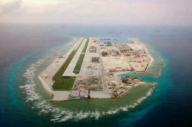 南海岛礁建设最新画面