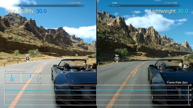 《最终幻想15》PS4和PS4 Pro对比测试