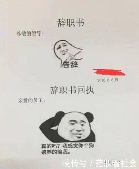 某网友写辞职信,只用了一个礼物,表情:求表情老板六一员工包的索要图片