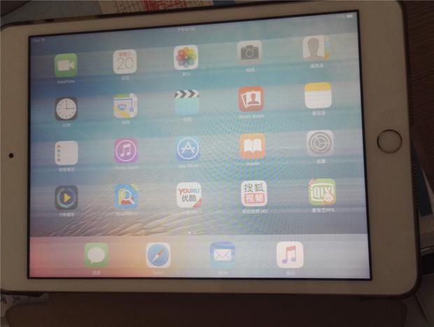ipad mini 3屏幕唤醒时出现条纹,模糊.