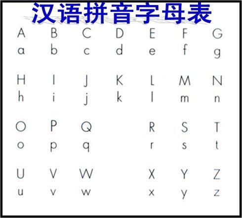 《拼音字母表》简单实用