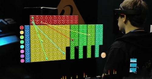 微软HoloLens搭配音乐合成器