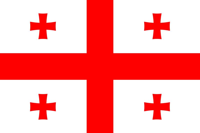 白色旗面,红色十字将旗面分为4部分,每部分上各有一个马耳他红十字.