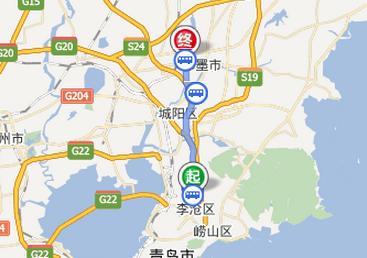 从李村公园到即墨服装批发市场怎么坐车最方便快捷