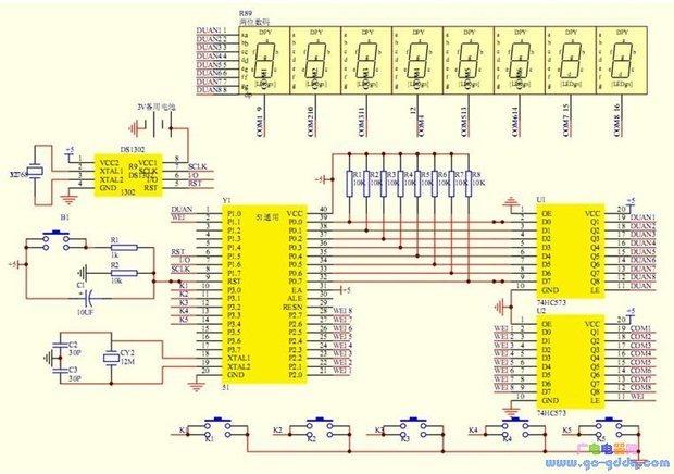 求这个ds1302电路图的程序