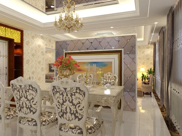 客厅摆设装修,隔断出来个餐厅!
