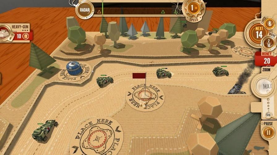 真3d的塔防游戏《战争攻略纸箱》美国到成都波士顿v战争坦克图片