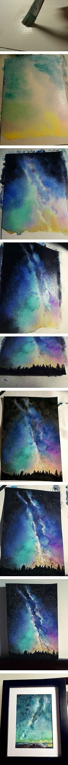 水彩星空的画法及步骤