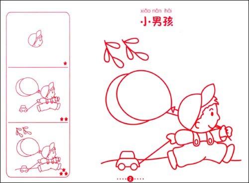 儿童学画简笔画:儿童人物卡通简笔画