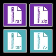 Rar Zip Tar 7Zip