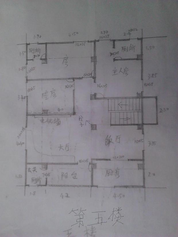 求高人帮忙在设计这套两层复式楼房的平面设计图!