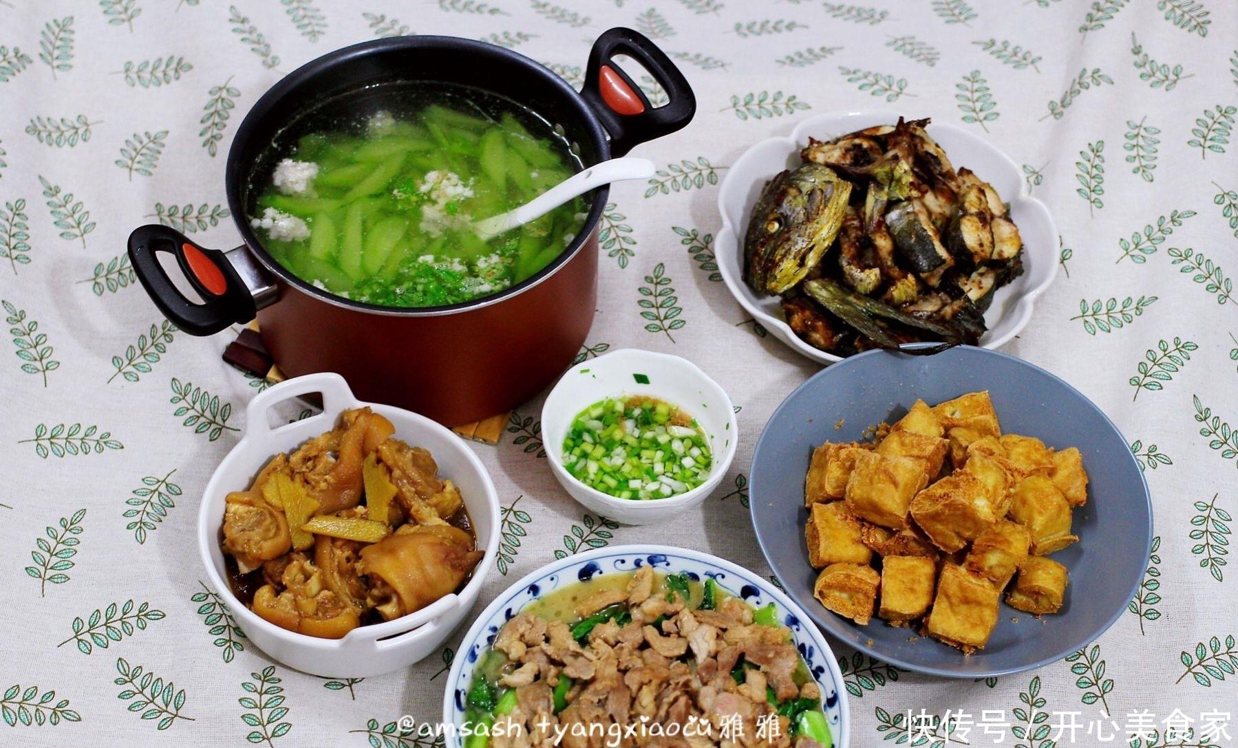 一家五口的家常晚餐,简单易做,营养好吃不贵,下酒又下饭