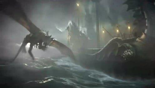喷火龙联手老鼠骑士大战深海巨妖,最后竟然败在人类之手