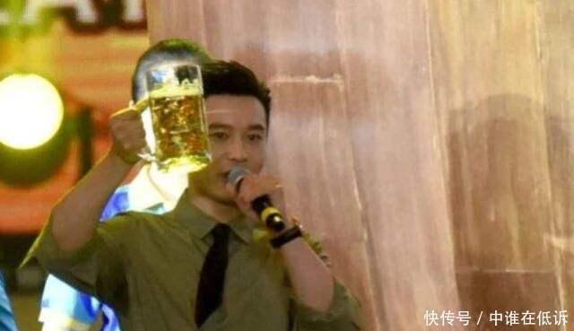 啤酒节黄晓明豪饮五斤啤酒,嘉宾都愣住,这不是第一次搞僵气氛了