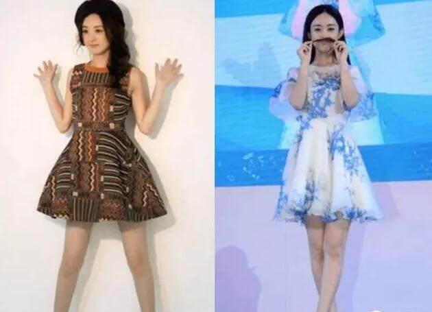 同穿一条裙子,唐嫣显得高贵,而赵丽颖却像一身地摊货!