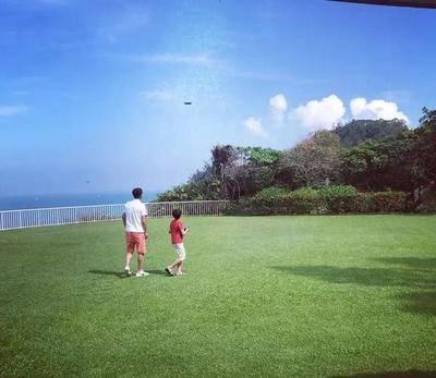 李嘉欣在自家别墅里遛狗、晒太阳,网友:这才是真正的豪门生活!