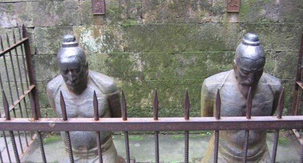 杭州西湖岳飞墓秦桧夫妇跪了数百年,能站起来了吗
