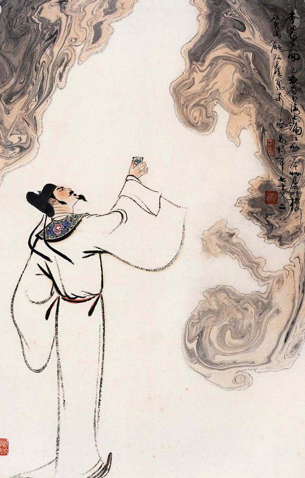 彩铅手绘李白凤求凰全过程