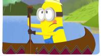神偷奶爸 : 吃货小黄人诞生!小黄人与萌友同时看到香蕉,连船都划不动了爆笑